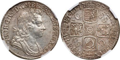 1 Shilling Königreich Großbritannien (1707-1801) Silber Georg I (1660-1727)
