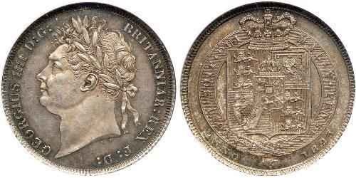 1 Shilling Vereinigtes Königreich von Großbritannien und Irland (1801-1922) Silber Georg IV (1762-1830)