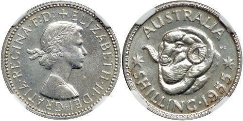 1 Shilling Australia (1939 - ) Silver Elizabeth II (1926-)