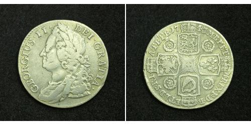 1 Shilling British Empire (1497 - 1949) Silver George II (1683-1760)