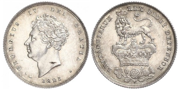 1 Shilling United Kingdom of Great Britain and Ireland (1801-1922) Silver George IV (1762-1830)