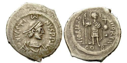 1 Siliqua Byzantine Empire (330-1453) Silver Justin II (520-578)