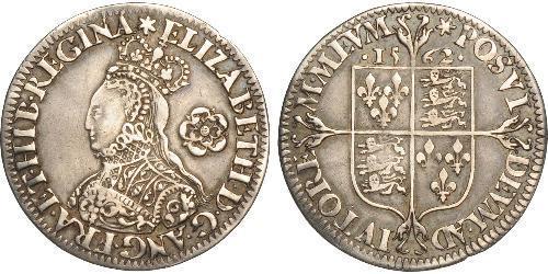 1 Sixpence Kingdom of England (927-1649,1660-1707) Silver Elizabeth I (1533-1603)