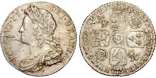 1 Sixpence / 6 Penny Regno Unito di Gran Bretagna (1707-1801) Argento Giorgio II (1683-1760)
