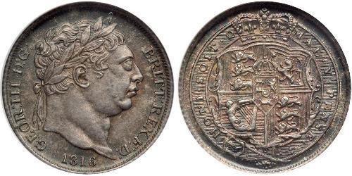 1 Sixpence / 6 Penny Reino Unido de Gran Bretaña e Irlanda (1801-1922) Plata Jorge III (1738-1820)