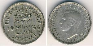 1 Sixpence / 6 Penny United Kingdom (1922-) Silver George V of the United Kingdom (1865-1936)