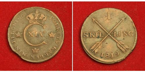 1 Skilling United Kingdoms of Sweden and Norway (1814-1905) Copper