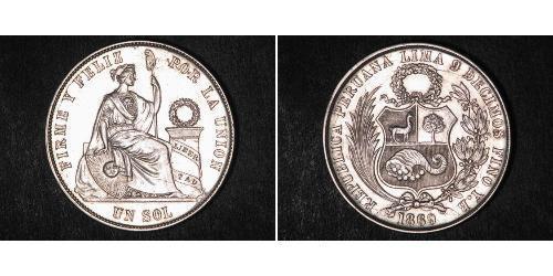 1 Sol Peru Silber