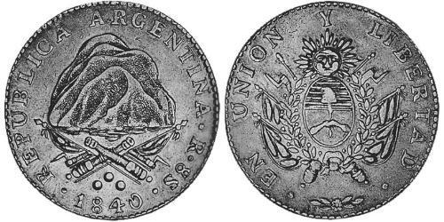 1 Sol United Provinces of the Río de la Plata (1810 -1831) Silver