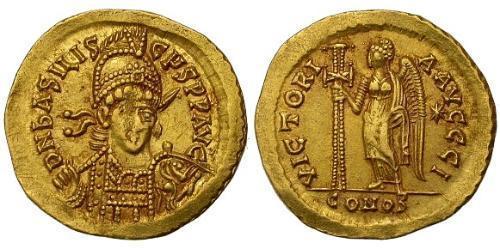 1 Solidus Byzantine Empire (330-1453) Gold Basiliscus (?-476)