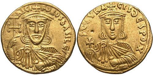 1 Solidus Byzantine Empire (330-1453) Gold Nikephoros I Logothetes(760-811)