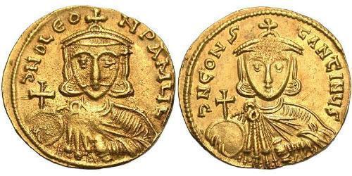 1 Solidus Byzantine Empire (330-1453) Gold Leo III (685-741)
