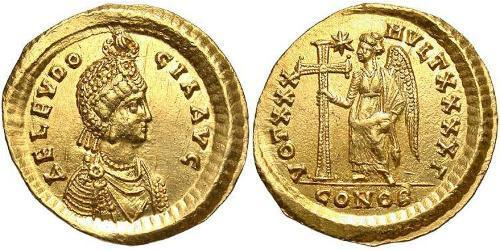 1 Solidus Byzantine Empire (330-1453) Gold Aelia Eudocia Augusta (401-460)