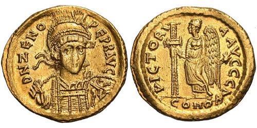 1 Solidus Byzantine Empire (330-1453) Gold Flavius Zeno (425- 491)