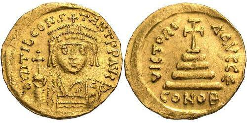 1 Solidus Byzantine Empire (330-1453) Gold Tiberius II (535-582)
