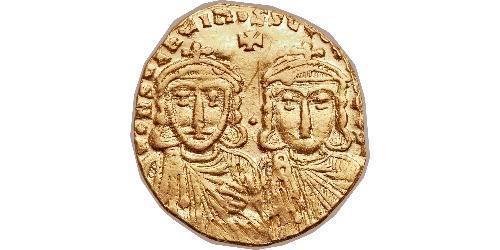 1 Solidus Byzantine Empire (330-1453) Gold Constantine V (718-775)