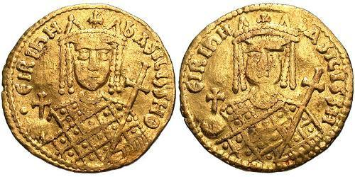 1 Solidus Byzantine Empire (330-1453) Gold Irene Sarantapechaina (752-803)