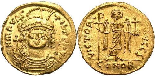 1 Solidus Byzantine Empire (330-1453) Gold Maurice Tiberius (539-602)