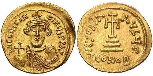 1 Solidus Byzantine Empire (330-1453) Gold Constans II (630-668)