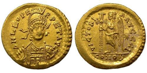 1 Solidus Byzantine Empire (330-1453) Gold Leo the Thracian (401-474)