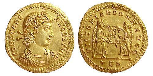 1 Solidus Byzantine Empire (330-1453) Gold Constans I (320-350)