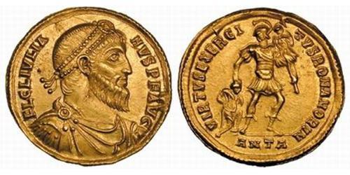 1 Solidus Roman Empire (27BC-395) Gold Julian the Apostate (331-363)