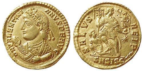1 Solidus Roman Empire (27BC-395) Gold Valentinian I  (321-375)