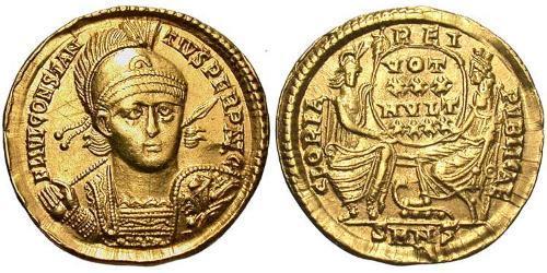 1 Solidus Roman Empire (27BC-395) Gold Constantius II (317 - 361)
