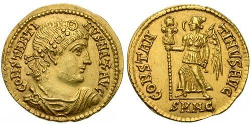 1 Solidus Roman Empire (27BC-395) Gold Constantine I (272 - 337)