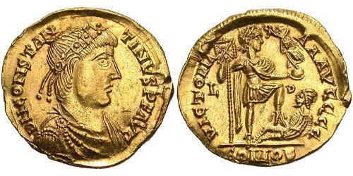 1 Solidus Western Roman Empire (285-476) Gold Constantine III (?-411)