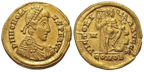 1 Solidus Western Roman Empire (285-476) Gold Honorius  (384-423)
