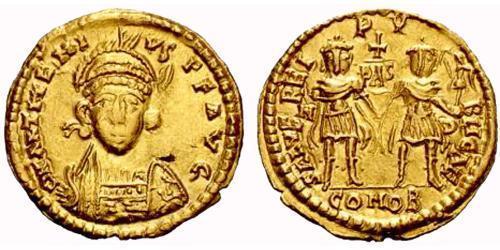 1 Solidus Western Roman Empire (285-476) Gold Procopius Anthemius (420- 472)