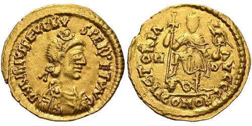 1 Solidus Western Roman Empire (285-476) Gold Libius Severus (420-465)
