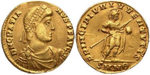 1 Solidus Western Roman Empire (285-476) Gold Gratian (359-383)