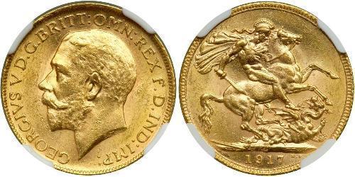 1 Sovereign 加拿大 金 乔治五世  (1865-1936)