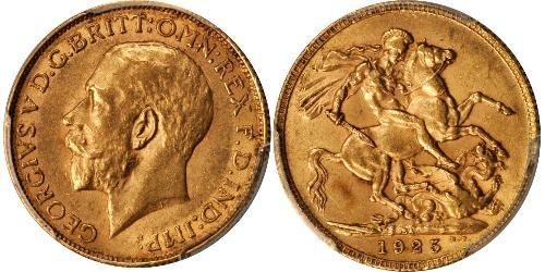 1 Sovereign South Africa 金 乔治五世  (1865-1936)