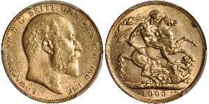 1 Sovereign Australia (1788 - 1939) Gold Edward VII (1841-1910)