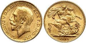 1 Sovereign United Kingdom (1707 - ) Gold George V of the United Kingdom (1865-1936)