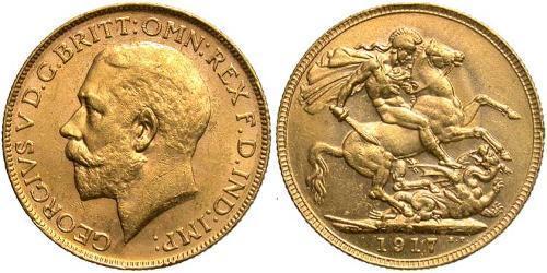 1 Sovereign Australia (1788 - 1939) Oro Giorgio V (1865-1936)
