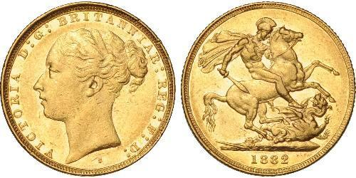 1 Sovereign Australia (1788 - 1939) Oro Vittoria (1819 - 1901)