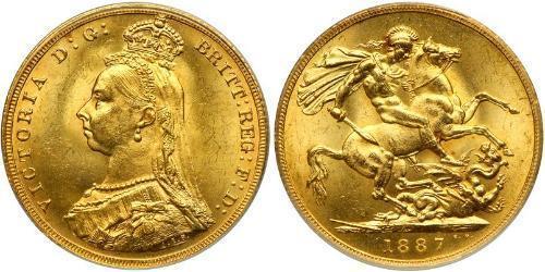1 Sovereign Regno Unito di Gran Bretagna e Irlanda (1801-1922) Oro Vittoria (1819 - 1901)