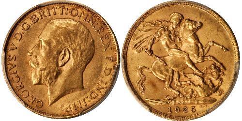 1 Sovereign Sudáfrica Oro Jorge V (1865-1936)