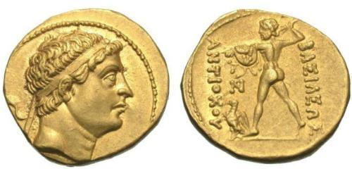 1 Stater Greco-Bactrian Kingdom (256BC-125BC) Gold