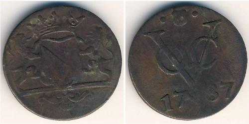 1 Stiver Kingdom of the Netherlands / Dutch East India Company (1602 - 1798) Copper