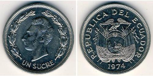 1 Sucre Équateur (pays) Cuivre/Nickel