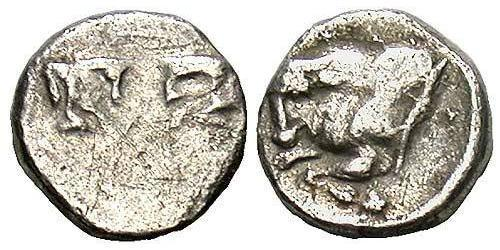 1 Tetartemorion Ancient Greece (1100BC-330) Silver