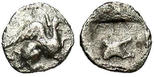 1 Tetartemorion Ancient Greece (1100BC-330) Silver