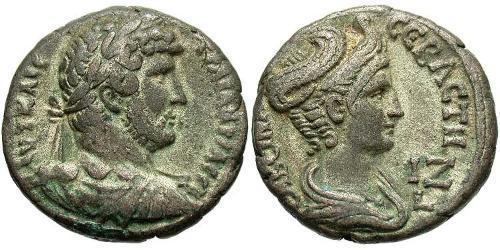 1 Tetradrachm Roman Empire (27BC-395) Billon Hadrian  (76 - 138)