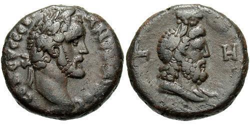 1 Tetradrachm Roman Empire (27BC-395) Bronze Antoninus Pius  (86-161)