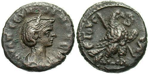 1 Tetradrachm Roman Empire (27BC-395) Bronze Ulpia Severina (?-?)